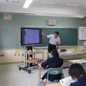 定山渓中学校で授業