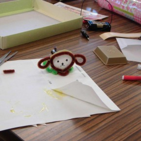 輪厚児童センターで充電実験