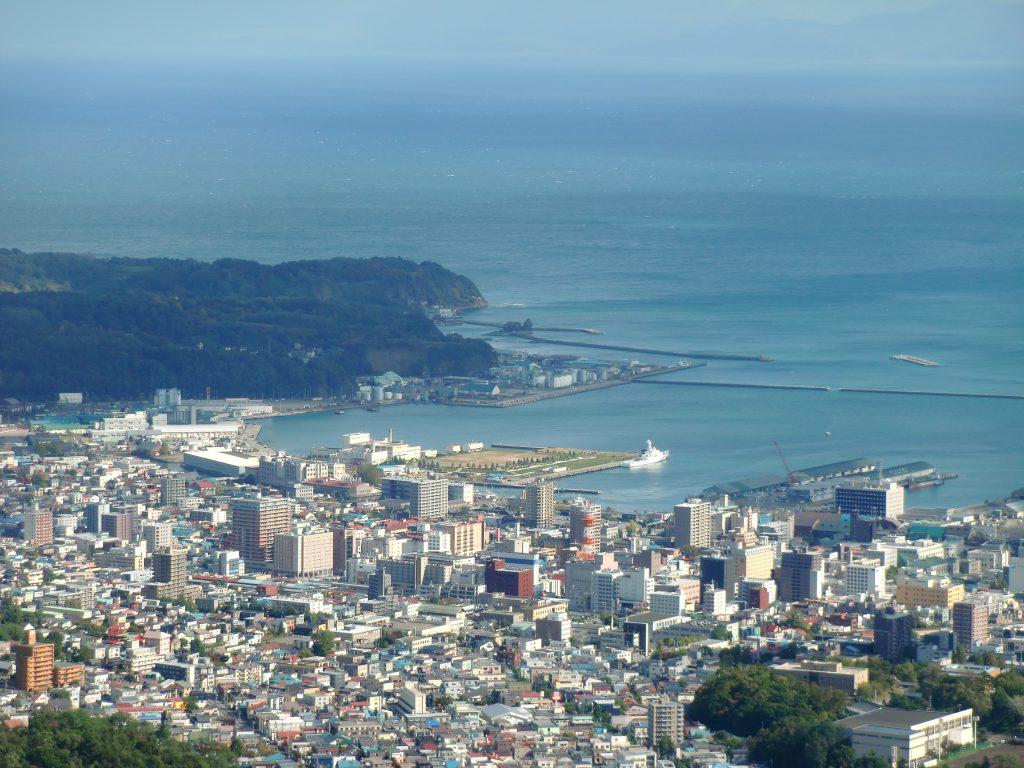 小樽港(天狗山より)